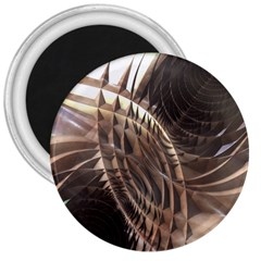 Abstract Copper Metallic Texture 3  Magnet