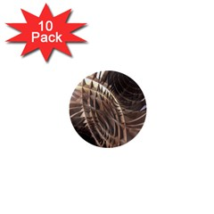 Abstract Copper Metallic Texture 1  Mini Button (10 pack)