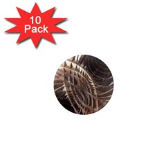Copper Metallic 1  Mini Magnet (10 Pack)