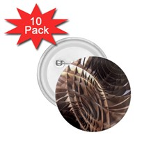 Abstract Copper Metallic Texture 1.75  Button (10 pack)