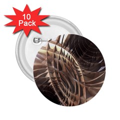 Abstract Copper Metallic Texture 2.25  Button (10 pack)