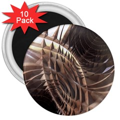 Abstract Copper Metallic Texture 3  Magnet (10 pack)