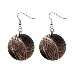 Copper Metallic 1  Button Earrings