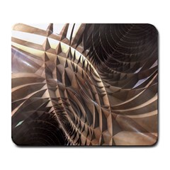 Abstract Copper Metallic Texture Large Mousepad
