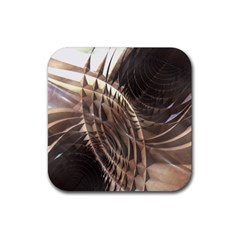 Abstract Copper Metallic Texture Rubber Square Coaster (4 pack)