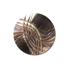 Abstract Copper Metallic Texture Magnet 3  (Round)