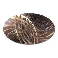 Abstract Copper Metallic Texture Magnet (Oval)