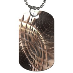 Copper Metallic Dog Tag (two Sides)