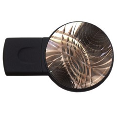 Abstract Copper Metallic Texture USB Flash Drive Round (1 GB)