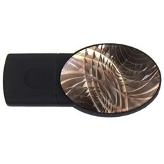 Copper Metallic Usb Flash Drive Oval (2 Gb)
