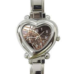 Copper Metallic Heart Italian Charm Watch