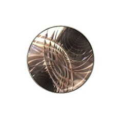 Abstract Copper Metallic Texture Hat Clip Ball Marker (4 pack)