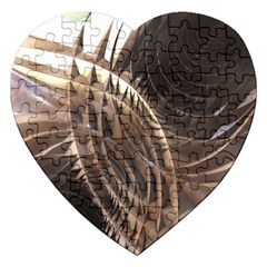 Abstract Copper Metallic Texture Jigsaw Puzzle (Heart)
