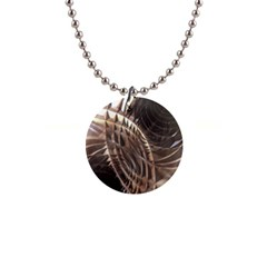 Abstract Copper Metallic Texture 1  Button Necklace