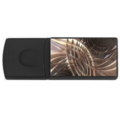 Abstract Copper Metallic Texture USB Flash Drive Rectangular (4 GB)