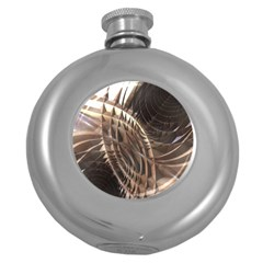 Abstract Copper Metallic Texture Hip Flask (5 oz)