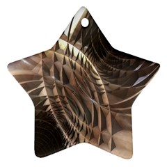Abstract Copper Metallic Texture Star Ornament (Two Sides)
