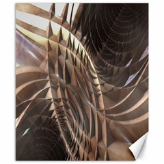 Abstract Copper Metallic Texture Canvas 8  x 10