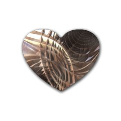 Copper Metallic Rubber Coaster (Heart)