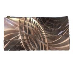 Abstract Copper Metallic Texture Pencil Case