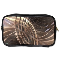 Abstract Copper Metallic Texture Toiletries Bag (Two Sides)