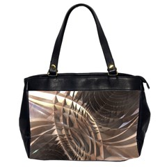 Abstract Copper Metallic Texture Oversize Office Handbag (2 Sides)