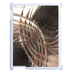 Abstract Copper Metallic Texture Apple iPad 2 Case (White)