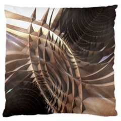Copper Metallic Texture Abstract Large Cushion Case (Two Sides)