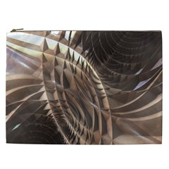Copper Metallic Texture Abstract Cosmetic Bag (XXL)