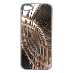 Copper Metallic Texture Abstract Apple iPhone 5 Case (Silver)