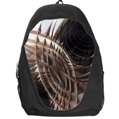 Copper Metallic Texture Abstract Backpack Bag