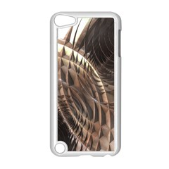 Copper Metallic Texture Abstract Apple iPod Touch 5 Case (White)