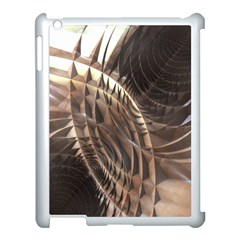Copper Metallic Texture Abstract Apple iPad 3/4 Case (White)