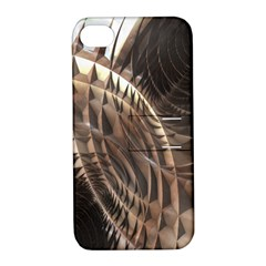 Copper Metallic Texture Abstract Apple iPhone 4/4S Hardshell Case with Stand