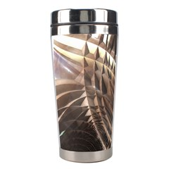 Copper Metallic Texture Abstract Stainless Steel Travel Tumbler