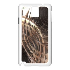 Copper Metallic Texture Abstract Samsung Galaxy Note 3 N9005 Case (White)