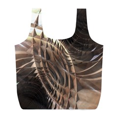 Metallic Copper Abstract Modern Art Full Print Recycle Bag (l)