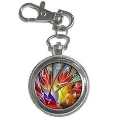 Fractal Bird Of Paradise Key Chain Watch