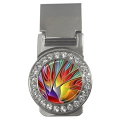 Fractal Bird of Paradise Money Clip (CZ)