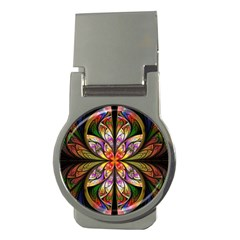 Rainbow Elliptic Splits Money Clip (Round)