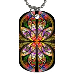 Rainbow Elliptic Splits Dog Tag (Two-sided)