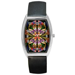 Rainbow Elliptic Splits Tonneau Leather Watch