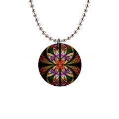 Rainbow Elliptic Splits Button Necklace