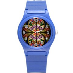 Rainbow Elliptic Splits Plastic Sport Watch (Small)