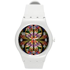 Rainbow Elliptic Splits Plastic Sport Watch (Medium)