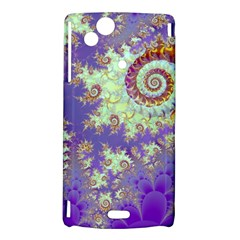 Sea Shell Spiral, Abstract Violet Cyan Stars Sony Xperia Arc Hardshell Case