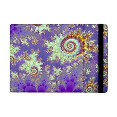 Sea Shell Spiral, Abstract Violet Cyan Stars Apple Ipad Mini Flip Case