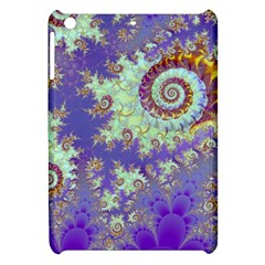 Sea Shell Spiral, Abstract Violet Cyan Stars Apple Ipad Mini Hardshell Case