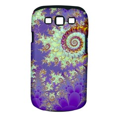 Sea Shell Spiral, Abstract Violet Cyan Stars Samsung Galaxy S III Classic Hardshell Case (PC+Silicone)