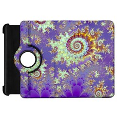Sea Shell Spiral, Abstract Violet Cyan Stars Kindle Fire Hd 7  (1st Gen) Flip 360 Case